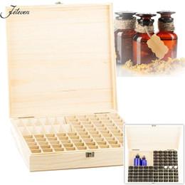 Wholesale Multipurpose Storage Box - 85 Slots Essential Oil Bottles Storage Box Organizer Multipurpose Wooden Holder Case Wood Bottles Jewelry Display Packaging