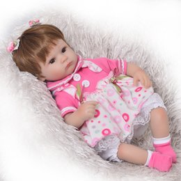 Principessa può online-Can Sit And Lie 17 Inch Reborn Newborn Bay Doll Soft Silicone Realistic Alive Princess Babies Kids Birthday Christmas Gift