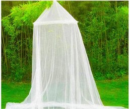 Wholesale Mosquito Net Outdoor Curtain - Elegant Classical romantic sweet princess students Outdoor hang dome mosquito nets Round Lace Insect Bed Canopy Netting Curtain