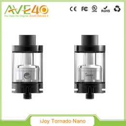 2019 tanque de tornado El ITAY Tornado Nano Tank original y el tanque Subohm de IJOY vienen con un vidrio con cambio de color Envío libre de DHL IJOY Tornado Nano tanque de tornado baratos