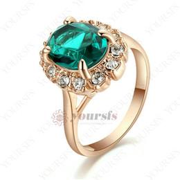 Yoursfs новый щедрый Gircle форма 18 K розовое золото покрытием старинные изумрудно-зеленый горный хрусталь коктейль кольцо подарок кольцо для женщин ювелирные изделия R288R3F от