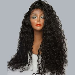 Wholesale Human Hair Wigs Natural Hairline - 9A Human Hair Wigs For Black Women Water Wave Pre Plucked Natural Hairline Lace Front Wigs With Baby Hair Brazilian Full Lace Wig