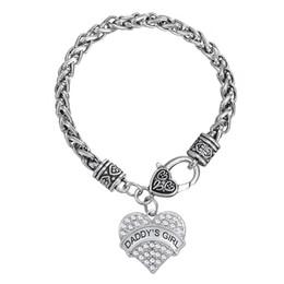 Wholesale hand charm necklace - Myshape Hand Jewwelry Engrave DADDY S GIRL Bracelet & Pendant Necklaces & Pendant Charms Jewelry Rhodium Plated Crystal Pendant HandJewelry
