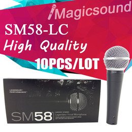 Wholesale Microphone Professional - 10PCS New High Quality SM58LC SM 58 58LC Wired Dynamic Cardioid Professional Microphone Legendary Vocal Microfone Mike Mic