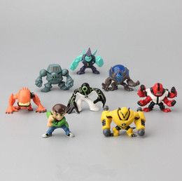 Wholesale Family Goods - 8Pieces 5CM Ben 10 new high quality Protector of Earth Family Action Figures Brinquedos Toys free shipping