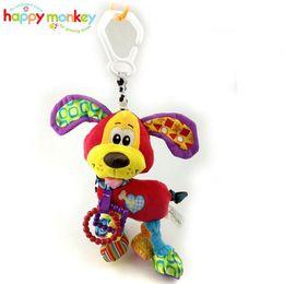 Wholesale Infant Hanging Toys - Baby Infant Animal Soft Rattles Bed Crib Stroller Music Hanging Bell Toy Dog Kawaii Kids Stuffed Toys For Children Dolls