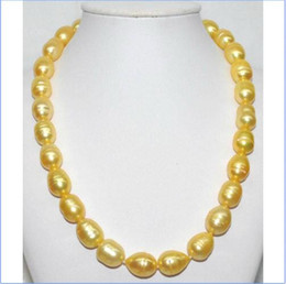 "Wholesale 14kt Heart Pendant - 10-13MM STUNNING SOUTH SEA GENUINE GOLDEN PEARL NECKLACE 18"" 14KT"