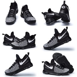 Wholesale Ready Ship Party Dresses - (With shoes Box)2016 New Kevin Durant KD 9 IX Low Black White Ready to ship 843392-010 Hot Sale Men Free Shipping Shoes