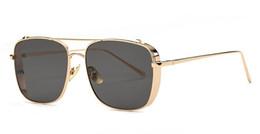 Wholesale Glass Mirror Coating - Gothic Steampunk Mens Sunglasses Coating Mirrored Sunglasses Square Circle Sun glasses Retro Vintage Gafas Masculino Sol
