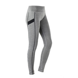 Wholesale Womens Stretch Black Pants - Wholesale-Womens Running Leggings Fitness Yoga Tights Stretch Quick-Drying Tights Ankle-length Pants Wide Waistband