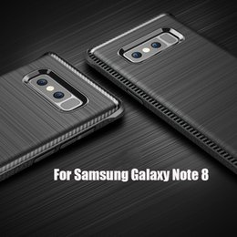 Wholesale Military Phone Covers - For Samsung Galaxy Note 8 Case Luxury Military Grade Protection Brushed Soft Silicone Rubber Cover Coque Note8 Phone Case