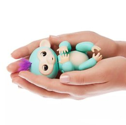 Wholesale Baby Best Sellers - 2017 best seller fingerlings monkey Interactive Baby Monkey Baby Fingerlings Pet Electronic Monkey Children Kids free fast shipping