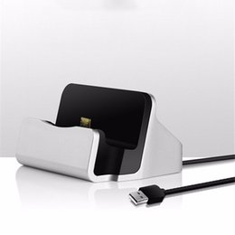Wholesale Galaxy S4 Docking Station - Universal Micro USB Sync Desktop Charging Dock Station Charger Stand For Samsung Galaxy S4 S5 S6 S7 edge LG G3 Xiaomi Adapter