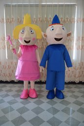 Wholesale Wholesalers Mascot Fancy Dress - ben and holly mascot costume for adults two pieces together fancy party dress suit carnival costume with free shipping