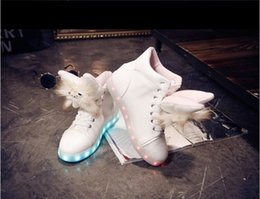 Wholesale Hard Dolls - 7Color LED luminous shoes USB charging shoe Plush dolls fluffy warm Martin boots women colorful lights high help Flat with shoes DHL 200pair