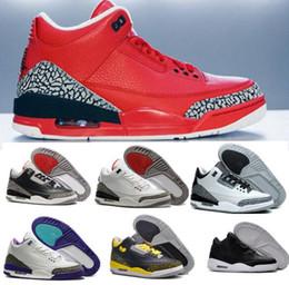 Wholesale Sneaker Sports Shoes Women S - Oero Retro 3 Basketball Shoes Men s III Cheap Retro Shoes 3s Women Sports Replicas Authentic Man Sneakers Size US7-13