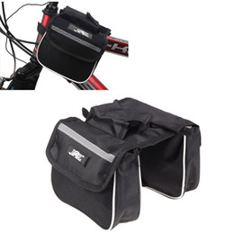 Wholesale Double Pannier Bag - JSZ Mountain Road MTB Cycling Bicycle Bike Frame Pannier Saddle Front Tube Bag Double Sides Outdoor Traveling Black