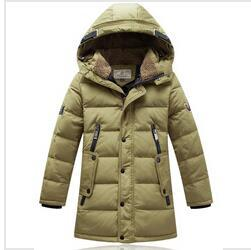 Wholesale Children S Long Down Jacket - New 2016 winter long Fur collar hooded children coats outerwear casaco infantil baby boy brand Warm thick down jacket clothing