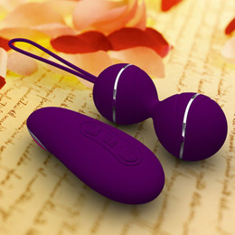Wholesale Wireless Remote Control Vibrators Women - wireless remote Wireless Waterproof Vibrating Egg G Spot Clitoral Vibrator Vaginal balls kegel exercise sex toy women