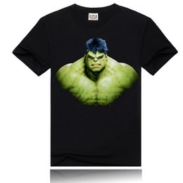 Wholesale Hulk T Shirts - Hulk 3D printing t shirt new fashion men's crew neck cotton t-shirt 2016 Summer rock t shirt
