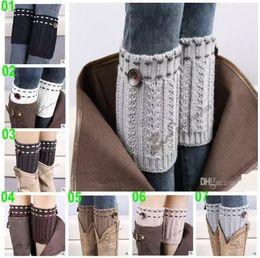 Wholesale Handmade Crochet Boots - women Crochet knitted leg warmers hotsale Boot Cuff button down Knit Ballet handmade Leg Warmers Christmas Boot Socks covers