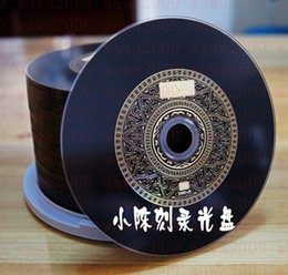 Wholesale Blank R - Golden Maxell DVD + R 16X 50P Barrel Burning Disc Black Vinyl Black Classic Blank CD 10pcs lot