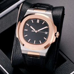 Wholesale Leather Hand Bands - the best Sale Nautilus 5711 1A-010 Sport Watch Men Brand Auto Monement Watch Silver Case Blue Dial Stainless luxury Band mens Watches.