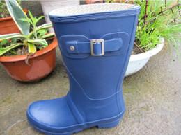 Wholesale Rubbers Rain Boots - 12 Color women s men s original Brand SHORT mid-calf rainboots low heels rubber waterproof welly boots rainboot classic Rain boots