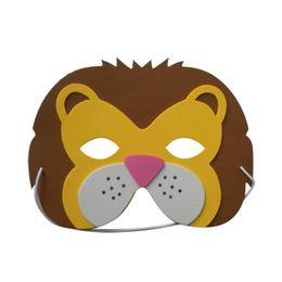 Fantasia de espuma eva on-line-Espuma de EVA Assorted Animal Máscaras para Crianças Favores da Festa de Aniversário Vestir-se Traje Zoo Selva Partido Suprimentos