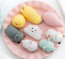 Wholesale Fun Exercises - Christmas lovely soft mini squishy stress relief animal toys for kids and adults fidget toy gift fun emotional abreact relax finger exercise