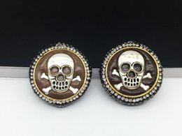 Wholesale Skull Connector Beads - Wholesale 5 Pieces Silver-Plated Skull Beads, Imported Cortex, Inlaid Crystal Rhinestones And Zircon's Connector Beads For Jewelry Making