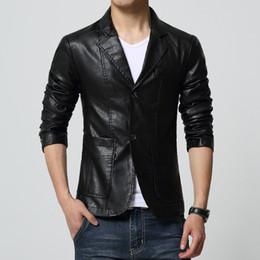 Wholesale Mens Black Suede Jacket Xl - Mens leather jackets and coats faux soft Pu suede jacket giubbino pelle uomo chaqueta cuero blouson cuir home big size 6XL 7XL