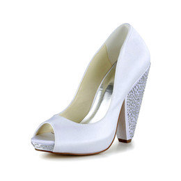 Wholesale Shape Up Sandals Women - Strong Heel Special Heel Shape Design 10cm Peep Open Shoe Toe Ivory Color Women Bridal Wedding Shoes from Euro Size 35 to Size 42