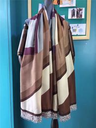 Wholesale Satin Stripe Scarves - Female scarves 2016 fashion elegant shawl stripes wrap pashmina satin multicolour girls autumn winter scarves size 80*180CM free shipping