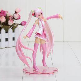 Wholesale Hatsune Miku Sakura Figures - Anime Vocaloid Sakura Hatsune Miku 1 10 PVC Action Figure Model Collection Toy with box approx 16cm