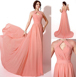 Wholesale Sparkle Prom Dress Stock - New Arrival Split Evening Dresses with Sparkle Sequins Pleats A Line Design Jewel Neckline Hollow back Long Ruffle Prom Gowns In Stock
