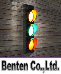 Semaforo interno online-Lampade da parete a LED a segnale stradale Lampade da parete in stile country americano Sconce per la camera dei bambini Illuminazione interna per soggiorno LLFA