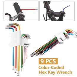 Wholesale Allen Key Wrench - 9 Pcs L Shape Hex Key Set Allen Wrench 1.5mm 2mm 2.5mm 3mm 4mm 5mm 6mm 8mm 10mm