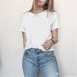 Wholesale White Plus Size Tops - hot tommy brand Plus Size Fashion Women Ladies Summer Short Sleeve Loose T-Shirt Casual Shirt Tops