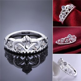 Wholesale Cubic Zirconia Sale - Brand new 10 pieces 925 silver Fashion inlaid stone Crown Ring Free shipping GSSR601 Factory direct sale fashion sterling silver finger ring