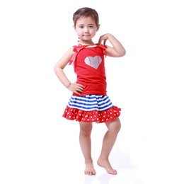 Wholesale Little Girls Tutus Wholesale - Patriotic Boutique Girls Clothing Set ,Top tutu skirt Little Girls Clothes ,4th of July outfit skirt set , Toddler Girl Clothes