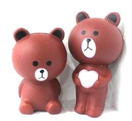 Wholesale Product Places - Squishy small brown bear imitation animal PU slow rebound new product stress relief toys Props for photography Place adorn