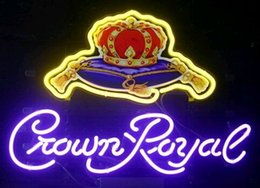 Wholesale Crown Royal Neon Signs - Neon Light Sign. LED sign Crown Royal Helmet LIGHT Neon Beer Sign Bar Sign Real Glass Neon Light Beer Sign 48cm*35cm