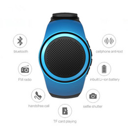 Wholesale Wrist Watches Mp3 Player - DHL B20 Bluetooth Sport Speaker Stylish Watch Portable Super Bass Outdoor Speakers Wrist Bracelete Built-in Microphone Hands Free