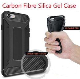 Wholesale Ultimate Iphone Case - Carbon Resilient Rugged Case Capsule Armor For Iphone 7 6 6S Plus Samsung S6 S7 EDGE NOTE 7 Ultimate protection and rugged design