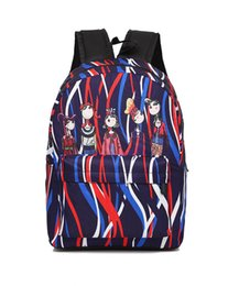 Wholesale Backpack Old School - Fashion Old tape cartoon duck stripe books girls printing Backpack Girls School Bags for Teenager Women Backpack printing backpack