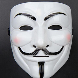 Wholesale Cheap Masks For Masquerade Ball - Cheap Masquerade Masks V Mask Vendetta Party Mask V Mask Masquerade For Vendetta Anonymous Valentine Ball Party Full Face Fast Shipping