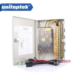 Wholesale Camera Power Box - DC12V 20A 18 Port Camera adapter Power CCTV Box Auto Reset for DVR Cameras