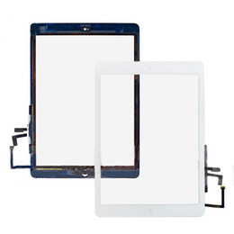 Wholesale Ipad Home Button Glue - For iPad air Touch Glass Screen Digitizer With Home button 3M Adhesive Glue Tape for iPad air iPad 5 assembly Replacement