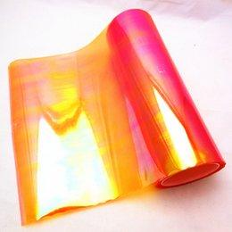 Wholesale Carbon Wholesalers - Free shipping Size 0.30m*10m Three Layers Car Colorful Rainbow Chameleon Fog Light Headlights Foglights Protective Vinyl Film Sticker